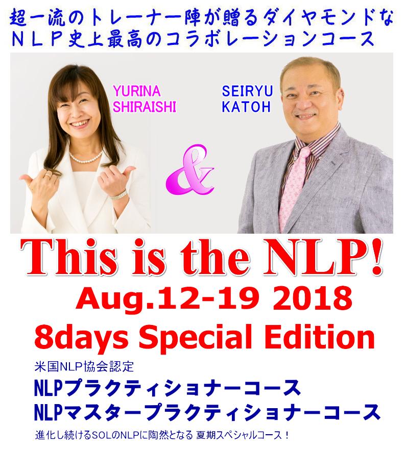 米国NLP協会認定NLPプラクティショナーコース 夏期集中スペシャル in 東京赤坂